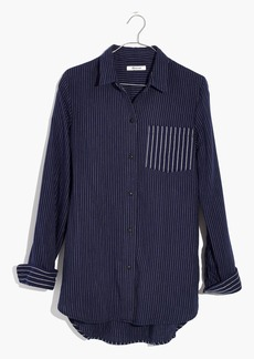 Madewell Classic Ex-Boyfriend Shirt in Stripe Mix