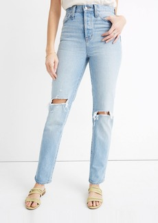 Madewell Classic High Rise Straight Jeans