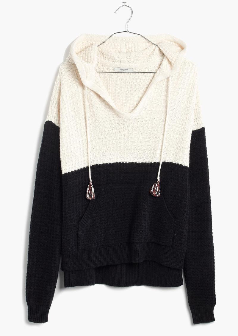 Madewell Colorblock Hoodie Sweater