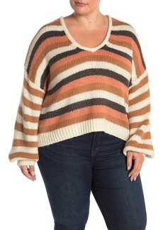 Madewell Colorblock Stripe Balloon Sleeve Knit Sweater (Regular & Plus Size)