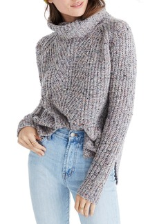 Madewell Colorfleck Ribbed Turtleneck Sweater