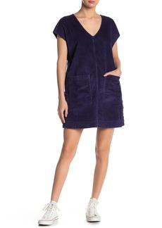 Madewell Corduroy Side Button Shift Dress