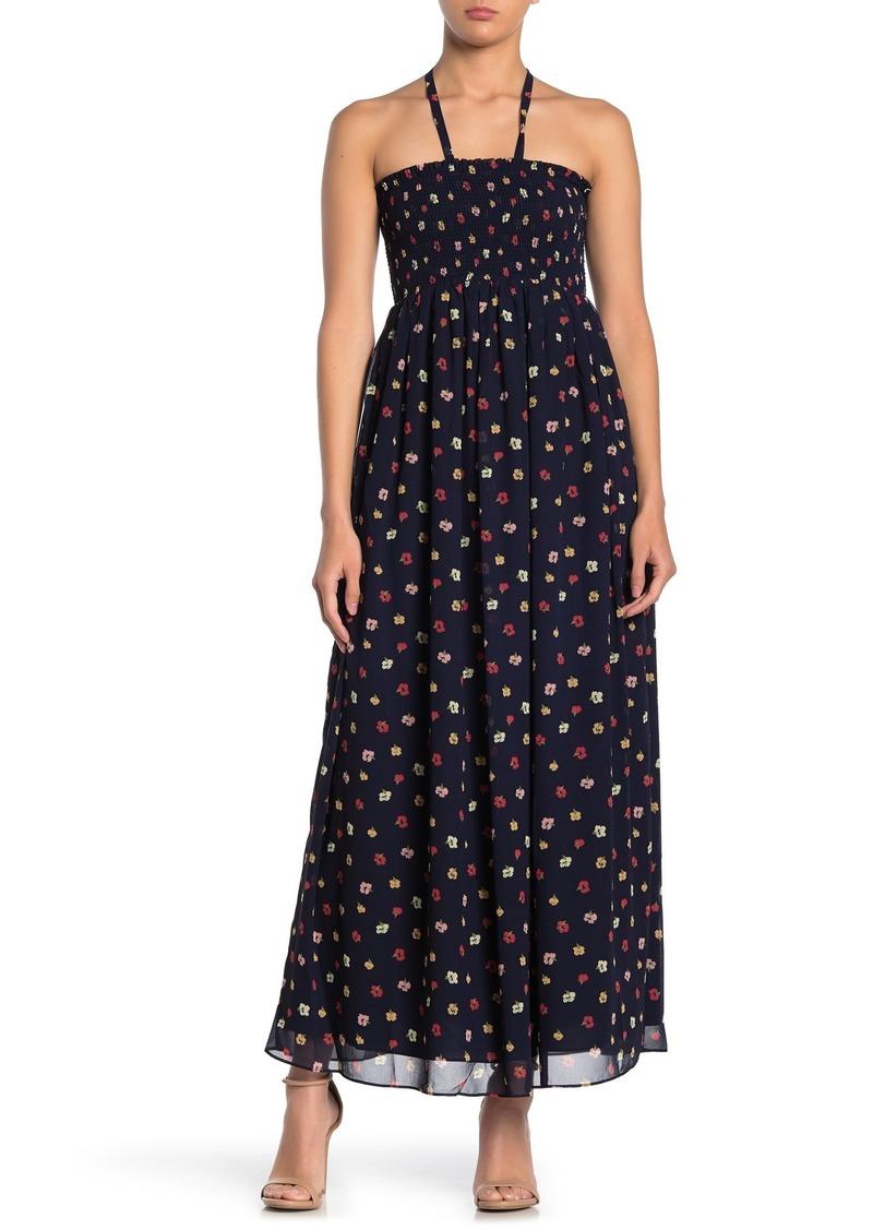 Madewell Coriander Floral Halter Maxi Dress