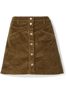 Madewell Cotton-blend Corduroy Mini Skirt