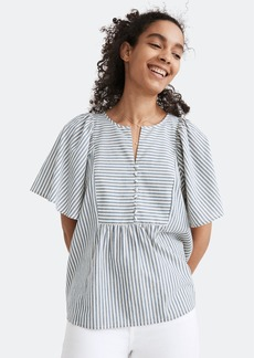 Madewell Courtyard Flutter Sleeve Top - M - Also in: S, XS