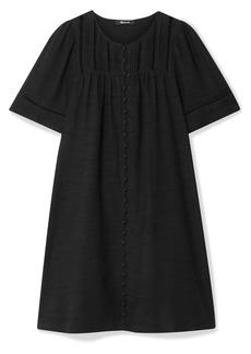 Madewell Crochet-trimmed Pintucked Voile Mini Dress