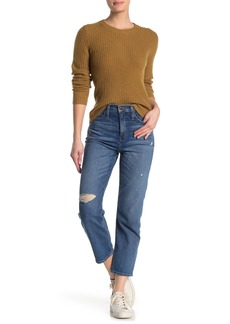 Madewell Cropped Classic Straight Leg Jeans