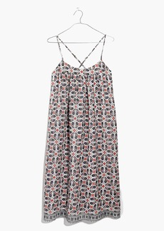 Cross-Back Cami Dress in Bandana Paisley