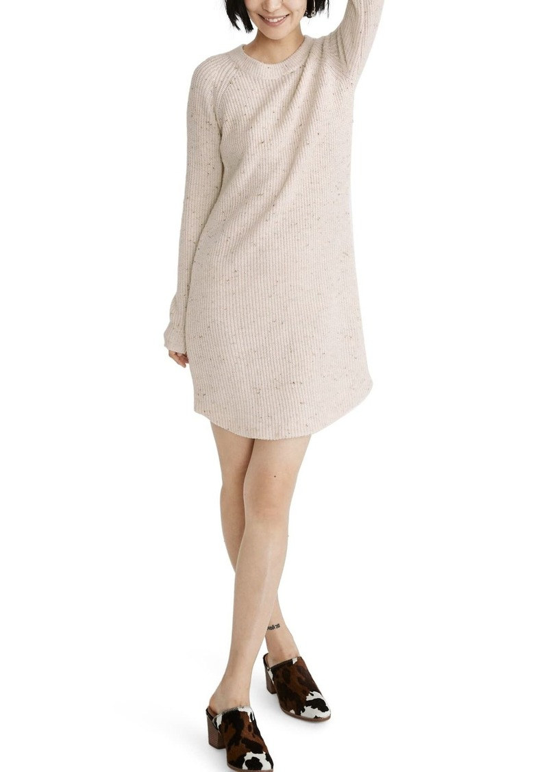 Curved Hem Sweater Dress