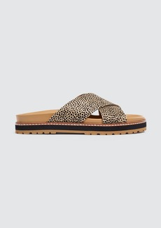 Madewell Dayna Crisscross Sandal In Spotted Calf Hair - 8 - Also in: 7, 6, 10, 5/5, 11, 6/5, 7/5, 8/5