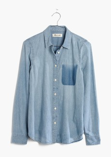 Madewell Denim Shrunken Ex-Boyfriend Shirt: Shadow-Pocket Edition
