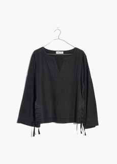 Denim Side-Lace Top in Sloan Black