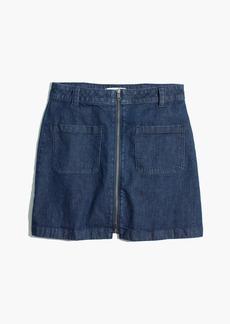 Denim Zip Mini Skirt