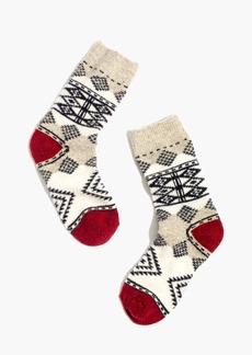 Madewell Diamond Carpet Trouser Socks