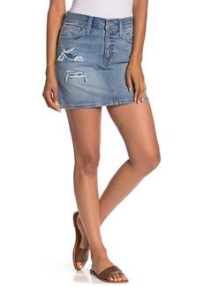 Madewell Distressed Denim Mini Skirt