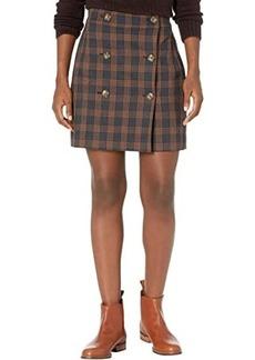 Madewell Plaid Double-Breasted Mini Skirt