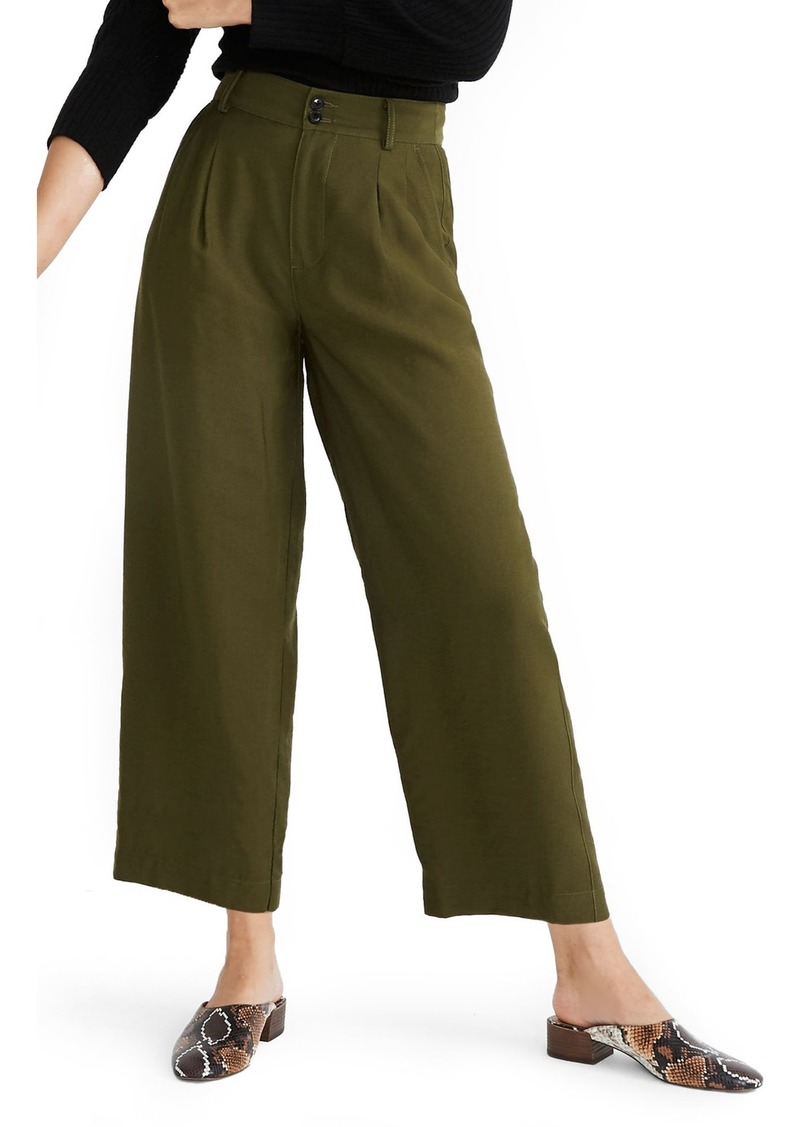 Madewell Drapey Pleated Wide-Leg Pants