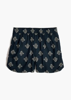 Drapey Pull-On Shorts in Flowerstamp