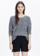 Madewell drapey pull-on shorts in true black