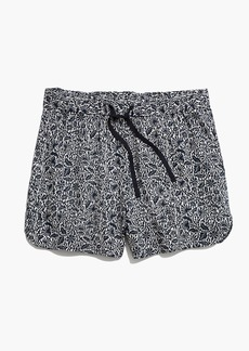 Drapey Pull-On Shorts in Woodcut Floral