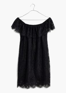 Madewell Dusklace Off-the-Shoulder Dress