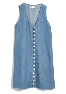 Madewell Easy Sleeveless Button Front Denim Dress (Regular & Plus Size)