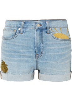 Madewell Embroidered Denim Shorts