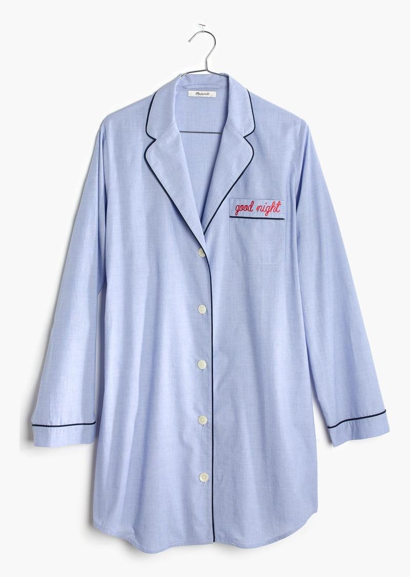 Madewell Embroidered Good Night Nightshirt