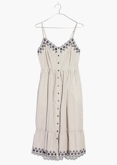 Embroidered Jardin Midi Dress