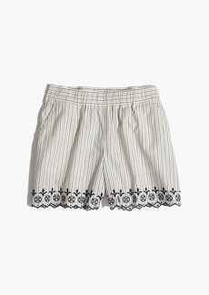 Embroidered Jardin Pull-On Shorts
