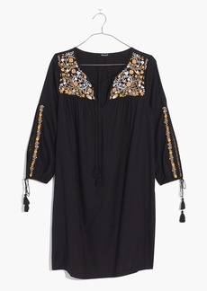 Madewell Embroidered Slit-Sleeve Dress