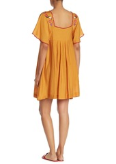 Madewell Embroidered Square Neck Dress