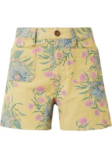 Madewell Emmett Floral-print Cotton-blend Twill Shorts