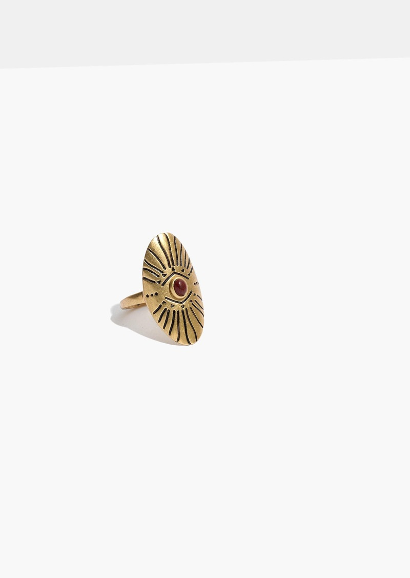 Madewell Etched Shield Ring in Gold-Tone