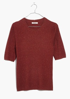 Madewell Evening Sparkle Ribbed Sweater Top