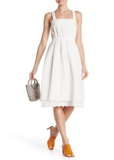 Madewell Eyelet Lace Tiered Midi Dress