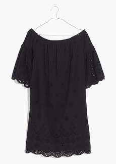 Madewell Eyelet Off-the-Shoulder Dress