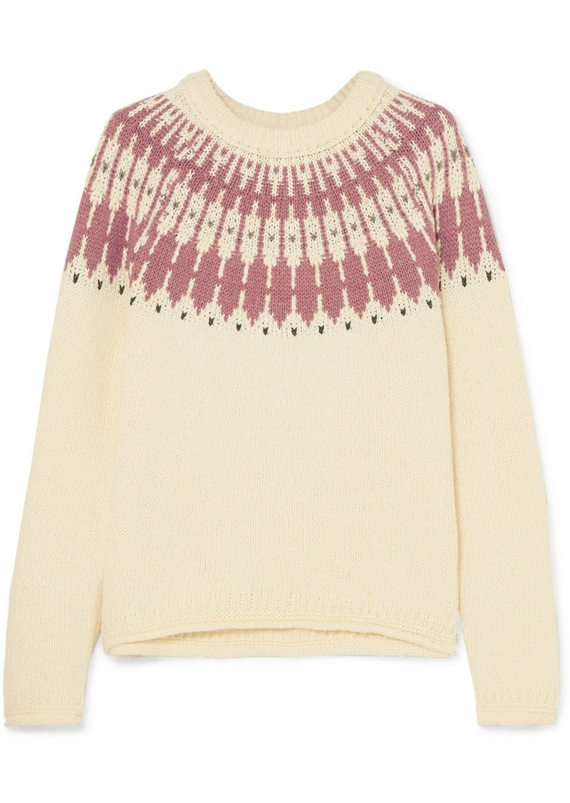 Madewell Fair Isle Cotton-blend Sweater