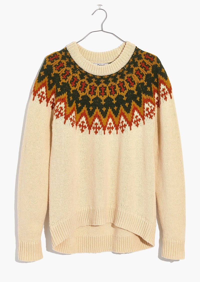 On Sale Today Madewell Fair Isle Pullover Sweater