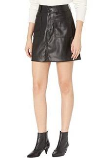 Madewell Vegan Leather A-Line Mini Skirt