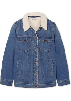 Madewell Faux Shearling-trimmed Denim Jacket