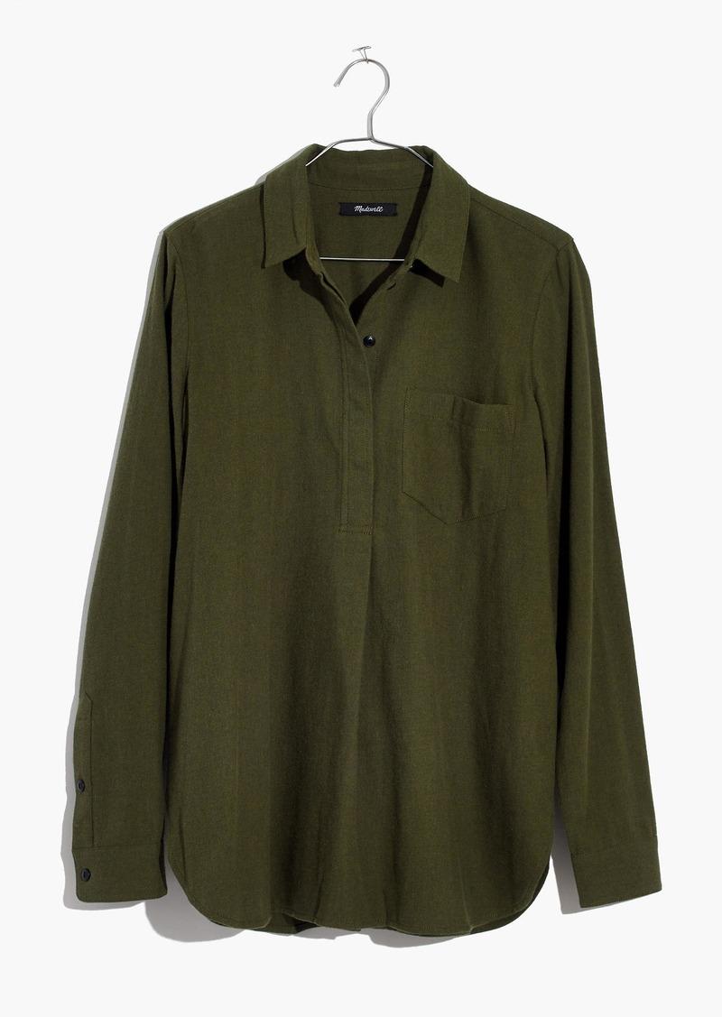 8f707245734 Madewell Flannel Classic Ex-Boyfriend Button-Back Shirt