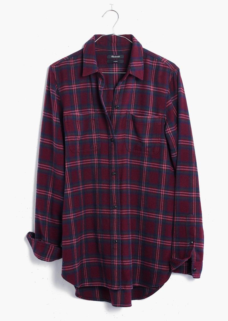 Madewell Flannel Classic Ex-Boyfriend Shirt in Jensen Plaid