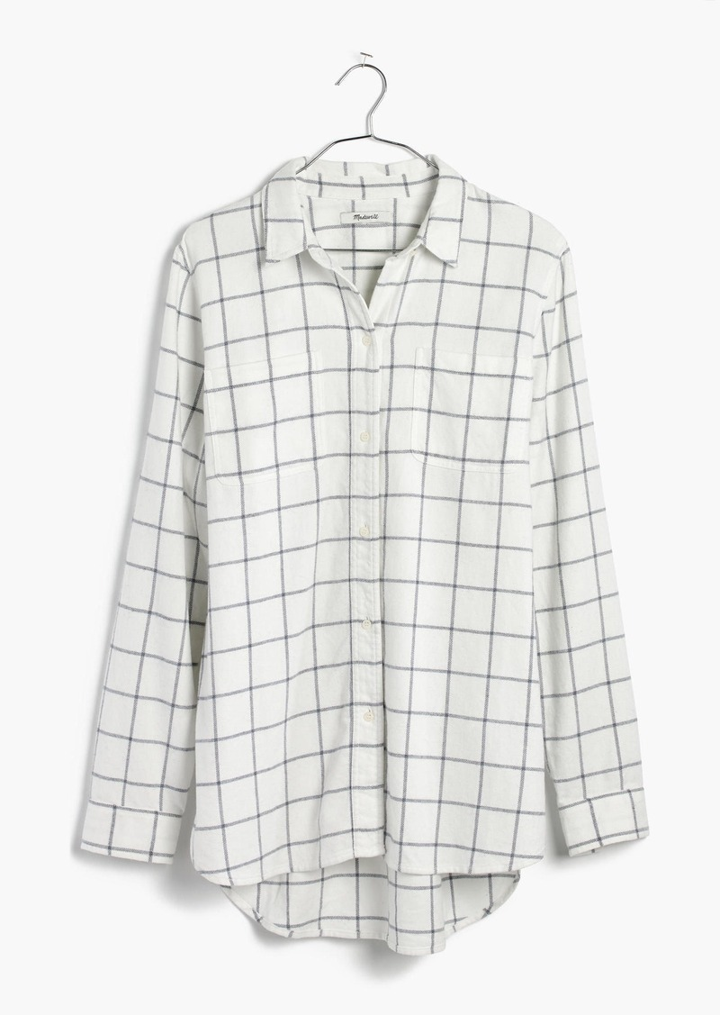 f4c3b0494e3 Madewell Flannel Classic Ex-Boyfriend Shirt in Windowpane