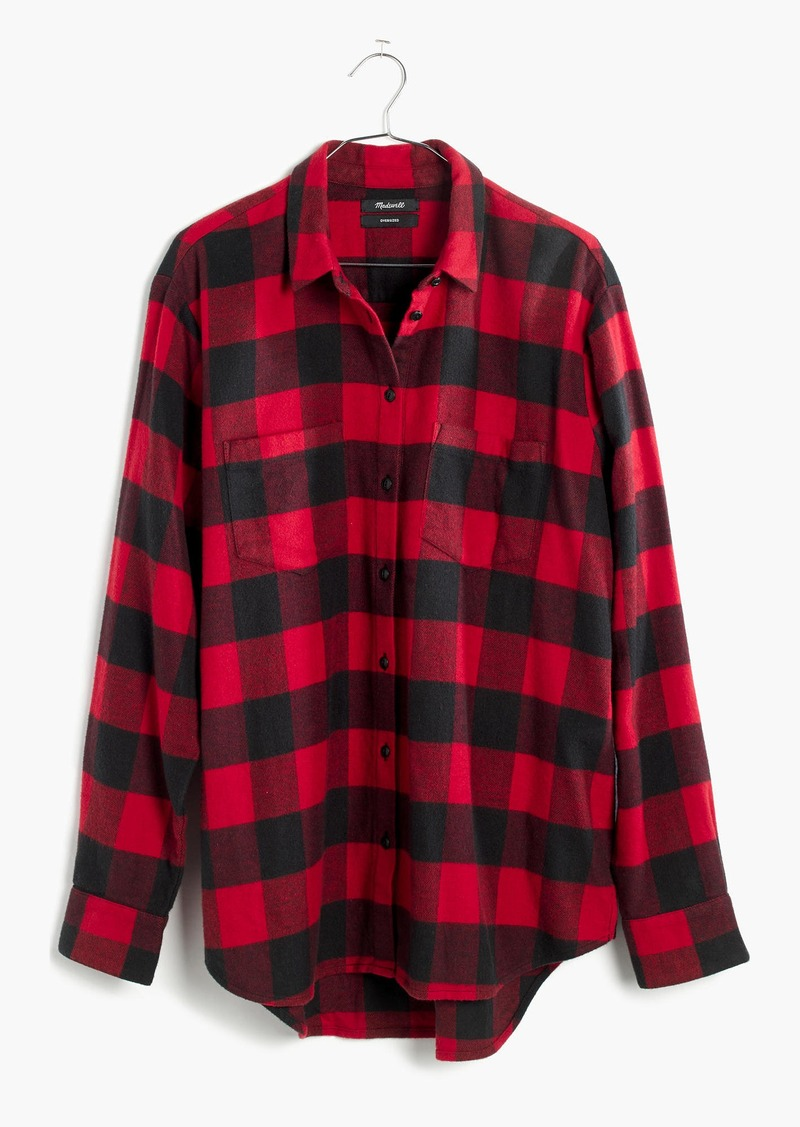 Madewell Flannel Oversized Ex-Boyfriend Shirt in Buffalo Check