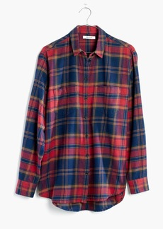 Madewell Flannel Oversized Ex-Boyfriend Shirt in Lewis Plaid