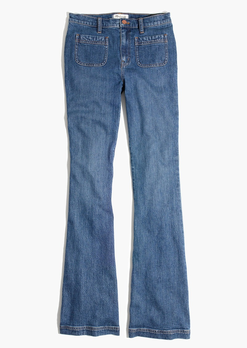 Madewell Flea Market Flare Jeans: Sailor Edition in Lucy Wash