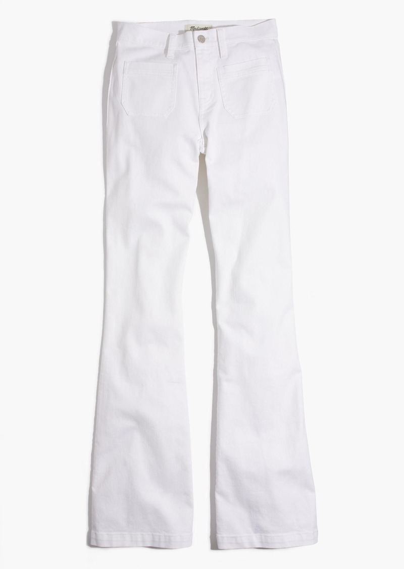 Madewell Flea Market Flare Jeans: Sailor Edition in Pure White