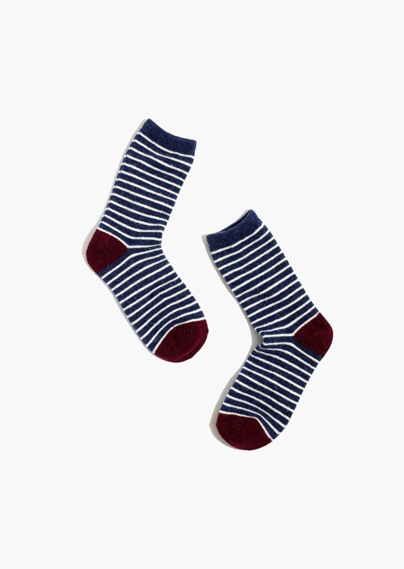 Madewell Flecked Stripe Trouser Socks