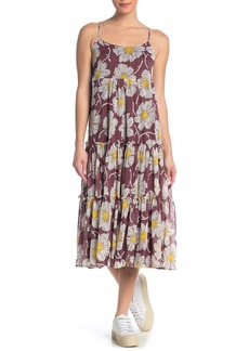 Madewell Floral Frill Braided Strap Maxi Dress